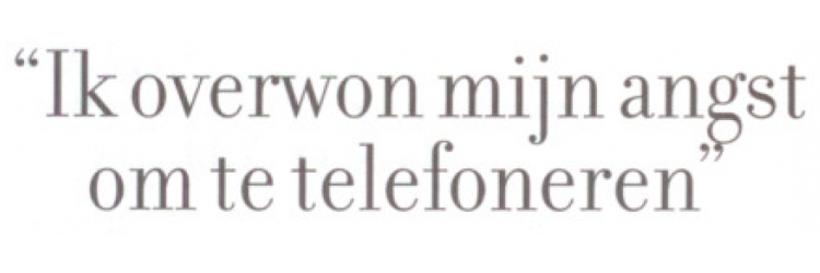 Article   Aikido: to better communicate on the phone (Dutch article)